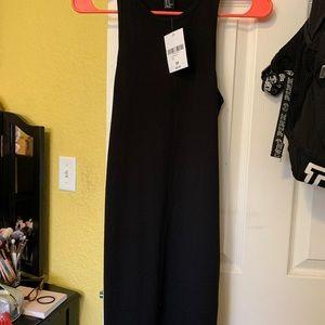 Forever 21 black midi dress.